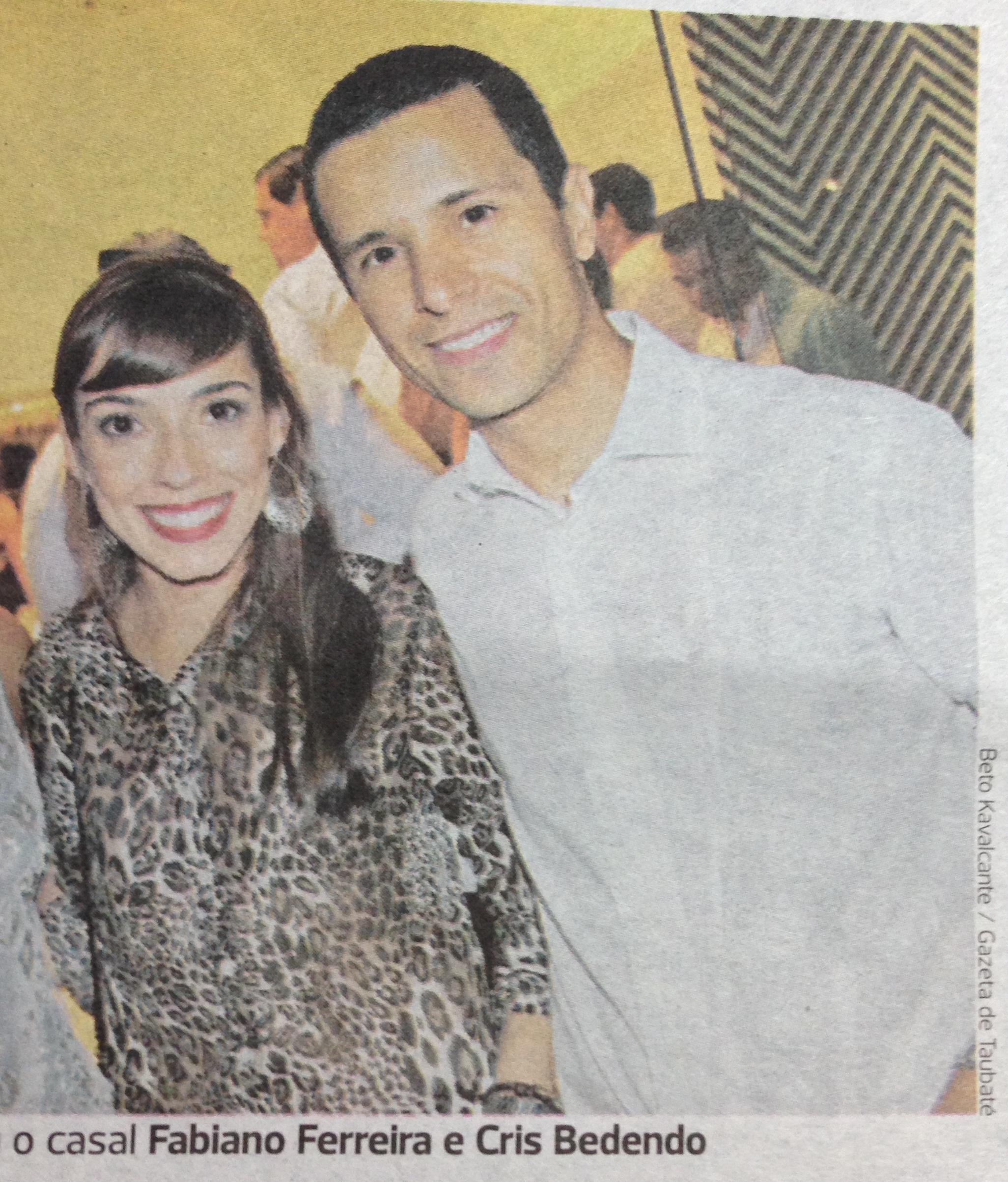Cris e Fabiano Gazeta de Taubaté