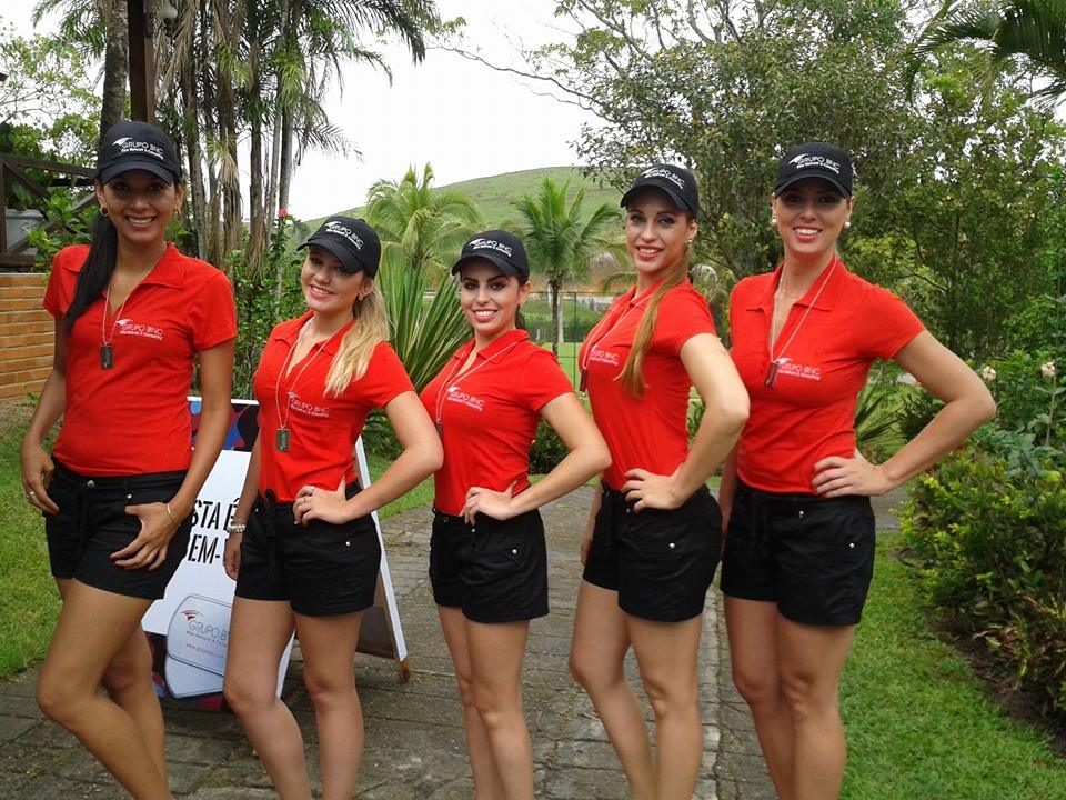 Promotoras no evento do Grupo BNC