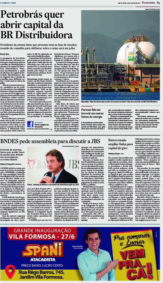 [BR - 1]  ESTADO/ECONOMIA/PAGINAS ... 23/06/17